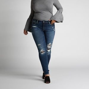 Silver Jeans Avery High Rise Curvy Skinny Jeans